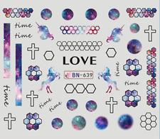Nail Art Stickers Water Decals Transfers - Unicorns Love (DB639)