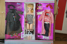 35TH ANNIVERSARY BARBIE DOLL, ORIGINAL 1959 BARBIE DOLL FASHIONS & PACKAGE, NRFB
