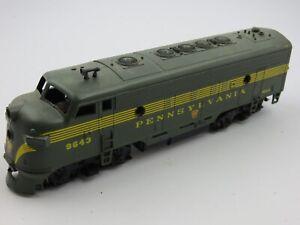 HO Scale Athearn Pennsylvania PRR F7A Diesel Locomotive  Model Train 9643 tested