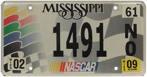 Véritable Plaque D'Immatriculation du Mississippi Nascar _ License plate