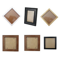 1X(Square Thick Pine Wood Photo Frame Wall Picture Frame (Black,6 Inch) Z5C9)