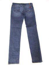 7 FOR ALL MANKIND ~Roxanne~ Crystal Pocket Slim Stretch Jeans Sz 28 x 33