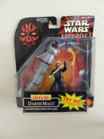 Deluxe Darth Maul Action Figure Lightsaber Star Wars Episode 1 Hasbro 1998