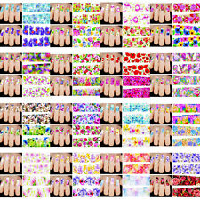50PCS Flower DIY Manicure Decals Water Transfer Nail Art Stickers Decor Tips