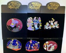 Disney Auctions Red Carpet COMPLETE 6-LE-100 OVERSIZED PIN SET! Only 1 on ebay!