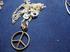 Silver Hippie Necklace Grandmas Estate 925 Sterling