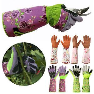 Gardening Gloves Women Men Garden Work Safety Gauntlet Thorn Proof Long Sleeve