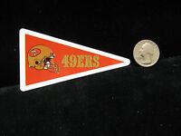 1990 Joe Montana 49ers Star Cal Decal Mini Pennant