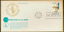 #1773 Seeing Eye Dog 1979 Scarce Cachet First Day Cover Unaddressed  LOT 973