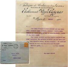 Enveloppe courrier 1924 Fabrique balais ets Roger Capgras Levinais Angers