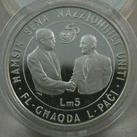 MALTA 5 Pounds 1995 Silver Proof UNITED NATIONS