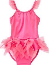 NWT Gymboree Girls Swim Shop Tutu Ruffle One Piece Swimsuit Size 18-24 M