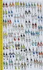 Lot 10 Pairs Alpaca Colored Murano Glass Earrings Buy Handmade Peruvian Jewelry