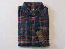 A/X Armani Exchange Men's Festive Plaid Shirt Navy Size XL NWT $98.50