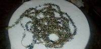 ANTIQUE BLUE AND SILVER TINSEL FEATHER CHRISTMAS TREE GARLAND 13.75'