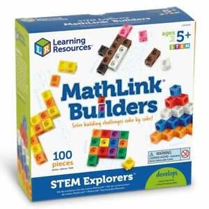 STEM Explorers MathLink Builders 100 Piece Cube Set inc 10 Fun Challenges