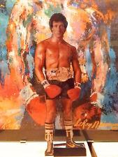 Rocky Balboa sagoma film Sly Stallone intagliato a mano sul forex h.29 cm