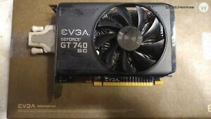 NVIDIA EVGA GT 740 SUPER CLOCK 4 GB VIDEO CARD