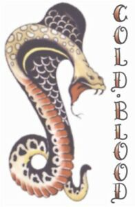 Vintage 1940s Cobra Snake Temporary Tattoo Costume Accessory NEW