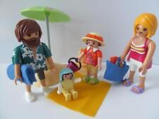 Playmobil Dollshouse/Figuras de vacaciones: mamá, papá, niña y bebé en la playa NUEVO
