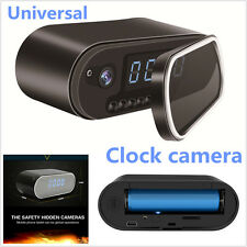 HD1080P Car Wireless Wifi Spy Hidden Camera Security Alarm Clock IR Night Vision