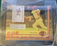 PETE ROSE 8X10 SUPERFRACTOR MAT W/ NATIONAL TREASURES JERSEY / JSA AUTOGRAPH