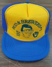 Vintage Milwaukee Brewers Hat Bud Selig 1970s MLB Trucker Cap