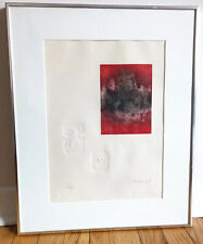 Hoi Lebadang Abstract Lithograph with Intaglio Etching Signed Framed Embossed