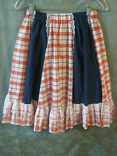 Pitchfork Brand Size Medium Lace trimmed Square Dance Skirt Made in USA
