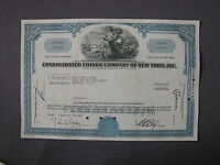 CONSOLIDATED EDISON COMPANY OF NEW YORK INC STOCK CERTIFICATE Aktie share action