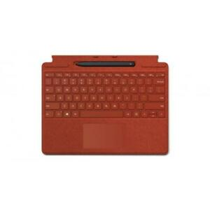 Microsoft Surface Pro X Signature Keyboard Poppy Red with Slim Pen - Full mechan