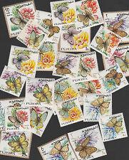 UAE Fujeira 3124 - 1967 BUTTERFLIES  complete perf set of 27 unmounted mint