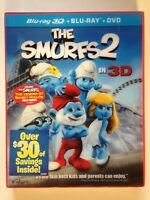 The Smurfs 2 3D (Blu-ray/DVD, 2013, 3-Disc Set, ) (NEW)Hank Azaria, Neil Patrick