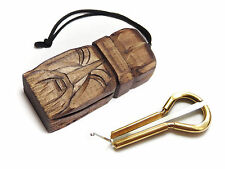 Jew's Harp by P.Potkin in wooden case Sorcerer-mouth musical instrument Jaw Harp