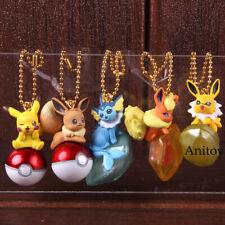 Anime Pikachu Figure Eevee Jolteon Vaporeon Flareon Keychain Twinkle Dolly Mini