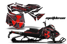 AMR Racing Sled Wrap Ski Doo Rev XM Snowmobile Graphics Kit 2013-2016 MLTDWN RED