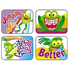 Friendly Frogs Applause Stickers® Trend Enterprises Inc. T-47098