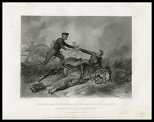 Major Ringgold Death BATTLE of PALO ALTO 1858 Mexican American War print