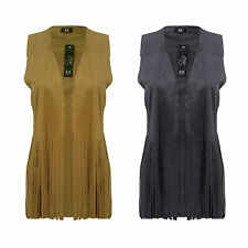 Polyester None Sleeveless Jumpers & Cardigans for Women