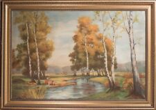 Large Mid Century Oil Painting, Classical American Landscape, Signed & FINE!