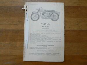 NORTON 88 EN 99 MODELS 1953-1960 SERVICE AND REPAIR GUIDE MOTORCYCLE DUTCH