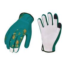 Vgo 1 Pairs Ladies' Goatskin Leather Gardening Gloves (Blue/Purple, GA7454)