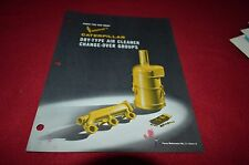 Caterpillar Dry Type Air Cleaners Canger Over Group Dealer Brochure DCPA8
