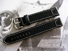 18mm Black Force Recon NATO G10 UTC Military army strap watchband IW SUISSE 19mm