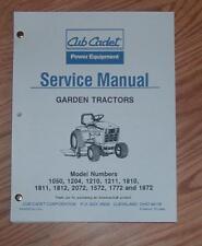 CUB CADET 2072 1872 1812 1811 1810 SERVICE MANUAL