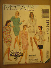 UNCUT Sewing Pattern 1992 McCall's SIZE 8 10 12 TOP Skirt 5879 [Z24]