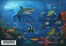FEUILLET N° F4646 NEUF XX TIMBRES 4646-4649 - POISSONS TROPICAUX - FAUNE MARINE