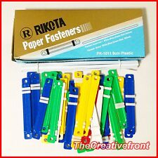 450x Secure Paper Document File Fasteners - 10 Boxes of 45 - Plastic Binder -New