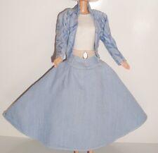 Barbie Vintage VêTEMENT Ensemble Jean Cow Girl Country étiquette Barbie Fashion