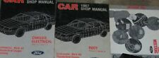 1987 FORD MUSTANG Service Shop Repair Manual Set FACTORY 3 VOLUME W EVTM BOOKS